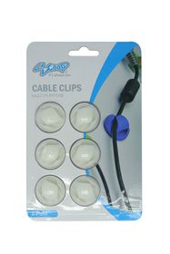SCOOP Double Hole Cable Clips 6 Pack - White