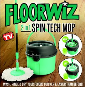 Floorwiz - 2-In-1 Spin-Tec - Green