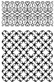 Ultimate Crafts Background Stamps - Jewelled Lattice