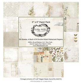 49 and Market Vintage Artistry 6x6 Paper Pack