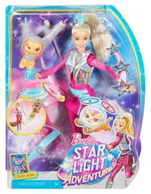 Barbie Star Light Doll And Hover Cat Toy