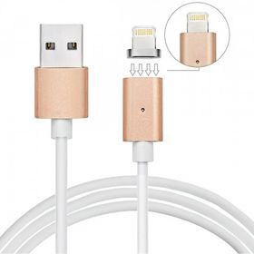 Tuff-Luv Magnetic 8 Pin Lightning and Micro USB Data Charging Cable for SmartPhones - Gold
