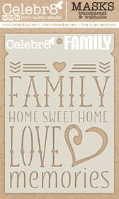 Celebr8 Home Sweet Home Mask - Family