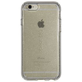 Speck Candyshell Clear with Glitter for iPhone 6/6S - Clear/Gold Glitter