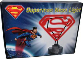 Superman DC Comics Neon Light Red Classic Outline 30cm (UK Plug)