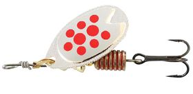 Abu Garcia - Fast Attack Spinners Bait - Silver & Red Dot - 5g