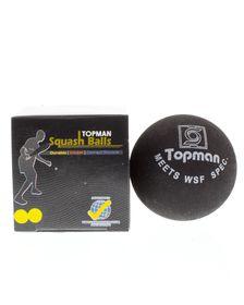 Topman Single Squash Ball - Double Yellow Dot Match Play