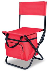 Creative Travel Capri Chair and Cooler - Red