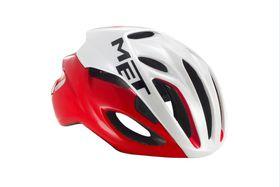 MET Rivale Helmet - Red / White- Size: Medium