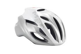 MET Rivale Helmet - White / Silver- Size: Medium