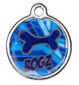 Rogz - 3.1cm ID Tagz Metal Tag - Navy Zen Design