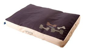 Rogz - Extra-Large Flat Pods Dog Bed - Mocha Bone Design