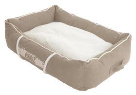 Rogz - Small Lounge Pod Large Dog Bed - Stone
