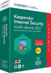 Kasperksy Internet Security 2017 Box Pack - 1 User