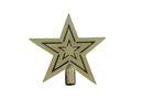 Star Tree Top 19cm Shiny Gold