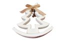 Wooden Tree Decoration w/Bow White (17cm)