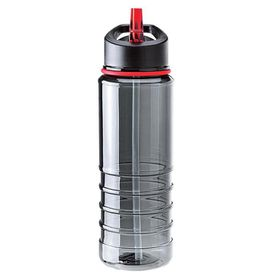 Eco - 750ml Triton Bottle With Straw - Red