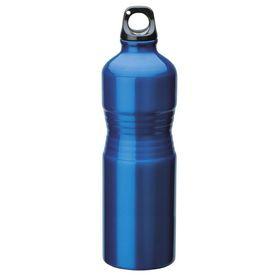 Eco - 680ml Shaped Aluminium Water Bottle - Blue