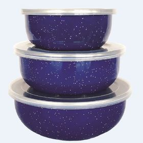 Afritrail - Enamel Storage Bowl Set