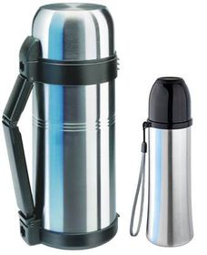 Isosteel - Vacuum & Quickstop Flasks Bundle - Silver