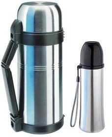 Isosteel - Vacuum & Quickstop Flasks Bundle - Silver <br /> <br />