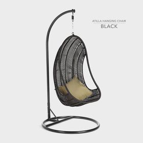 Cielo - Atilla Hanging Chair - Black