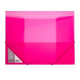 Meeco A4 Carry Folder with Elastic Closure - Pink