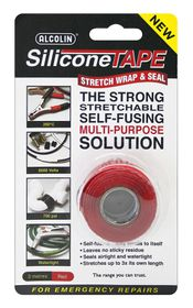 Alcolin Silicone Tape - 3m Red