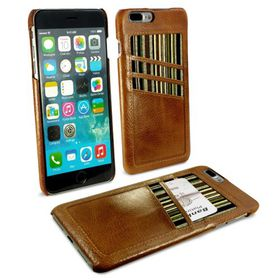 Tuff-Luv Alston Craig Slim Shell and Card Holder for Apple iPhone 7 Plus - Brown