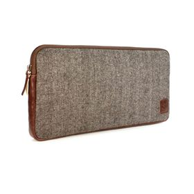 Tuff-Luv HerringBone Tweed Travel Case for Apple Accessories - Tweed Brown