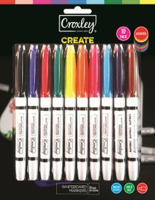 Croxley Create Fine Nib Whiteboard Markers - Blister of 10