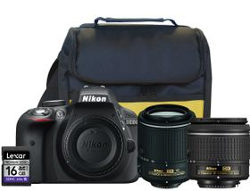 Nikon D3300 24.2MP DSLR Twin Lens Value Bundle