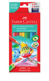 Faber-Castell 12 Full Length Watercolour Ecopencils