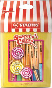 Stabilo Point 88 0.4mm Mini Sweet Colors Fibre Tip Pens (Pouch of 15)