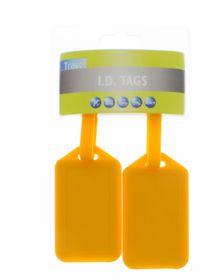 Motoquip Luggage Tag Kit All Yellow - 2 Piece