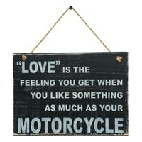 Prettish Love Motorcycle Sign - Black