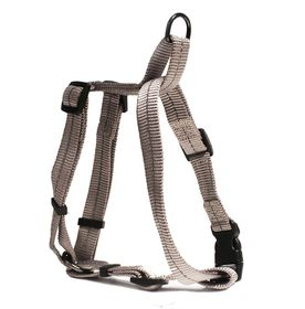 Dog's Life - Reflective Super soft Webbing H Harness - Small - Grey