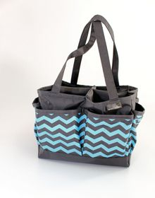 Spoilt Rotten Large Bag - Cool Chevron - Blue