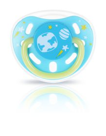 Kidsme - Glow in the Dark Pacifier Nipple - Aquamarine - Small