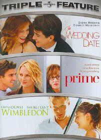 Wedding Date/Prime/Wimbledon - (Region 1 Import DVD)