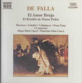 Herrera / Galofre / Valladares / I Cameristi - El Amor Brujo, El Retablo (CD)