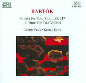 Gyorgy Pauk - Sonata For Solo Violin / Duos For 2 Violins (CD)