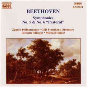 Beethoven - Symphonies 5 & 6 - Edlinger,Halasz (CD)