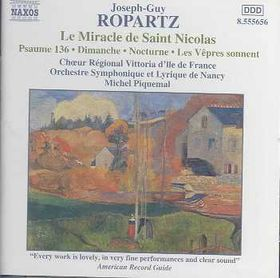 Ropartz - Le Miracle De St.Nicolas (CD)