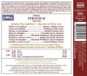 Strauss: Jabuka - Jabuka: Operetta In Three Acts (CD)
