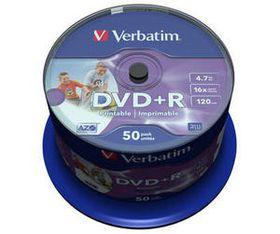 Verbatim DVD+R Wide Printable 16X 4.7GB - Spindle (50 Pack) (ID)