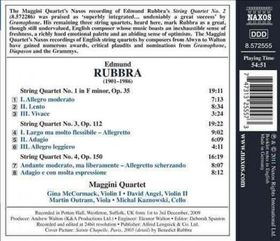Rubbra: String Quartet No1, 3, 4 - String Quartets Nos 1, 3 & 4 (CD)